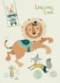 Bee Brown kaart leaping lion