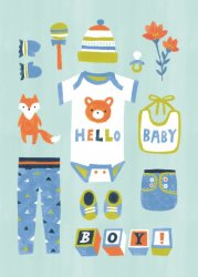 Irene Chan ansichtkaart baby boy