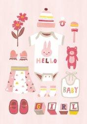 Irene Chan ansichtkaart baby girl