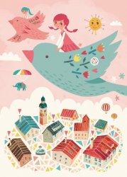 Irene Chan ansichtkaart bird ride