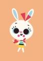 ansichtkaart tiago americo konijn