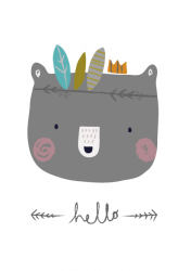 ansichtkaart hello beer
