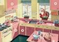 ansichtkaart kerst kitchen