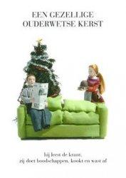 ansichtkaart ouderwetse kerst
