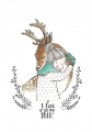 ansichtkaart love you my deer