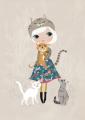 ansichtkaart cat lover