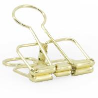 binder clip goud