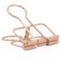 5 x binder clip rose