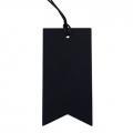 5 x papier flag tag zwart