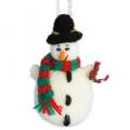 gebreide sneeuwpop