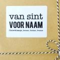 5 x sticker Sinterklaasje bonne bonne bonne