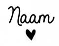 5 x sticker naam + hartje